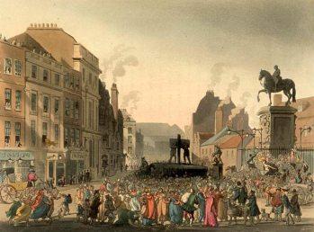 Der Pranger von Charing Cross.